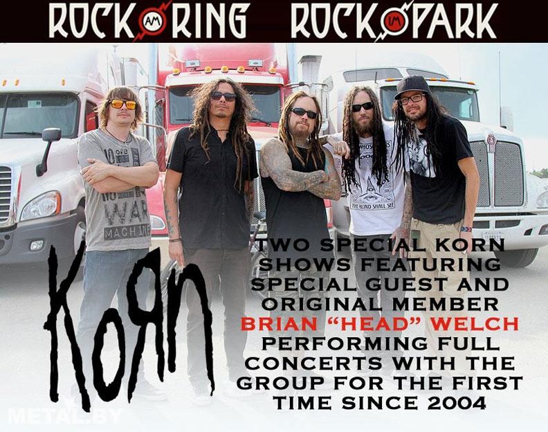 Korn отыграют два концерта с Брайаном Уэлчем