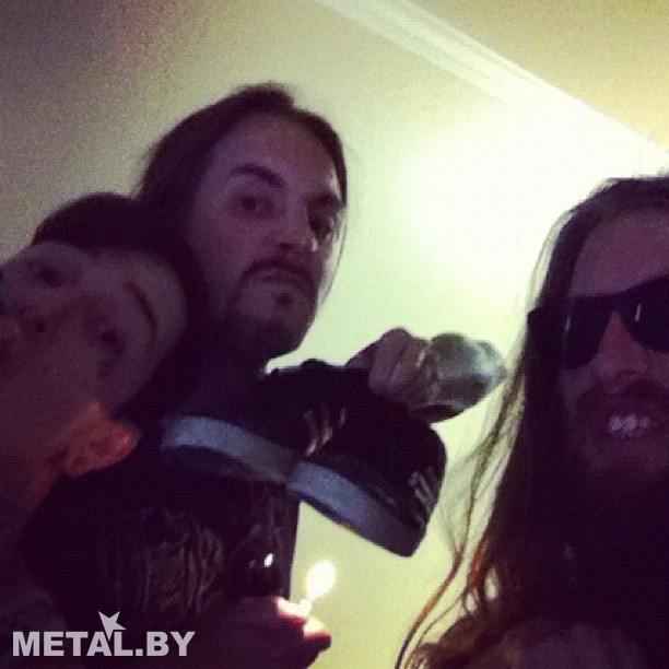 Последнее фото Митча Лакера с гитаристом Suicide Silence Марком Хэйльмуном